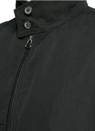 Detail View - Click To Enlarge - Lanvin - Zebra jacquard interior trim Harrington jacket