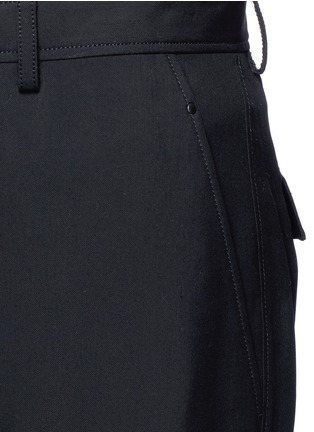 Detail View - Click To Enlarge - Lanvin - Technical wool cargo shorts