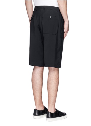 Back View - Click To Enlarge - Lanvin - Technical wool cargo shorts