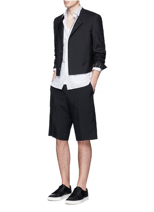 Figure View - Click To Enlarge - Lanvin - Technical wool cargo shorts