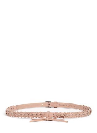 Main View - Click To Enlarge - Alaïa - 'Mille Fleurs' floral appliqué leather belt