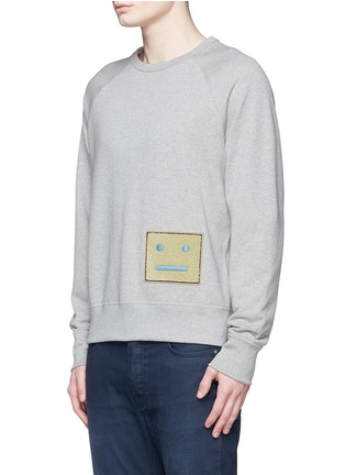 Front View - Click To Enlarge - Acne Studios - 'College L Face' cotton French terry sweatshirt
