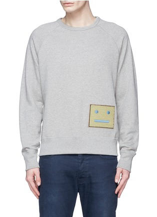 Main View - Click To Enlarge - Acne Studios - 'College L Face' cotton French terry sweatshirt
