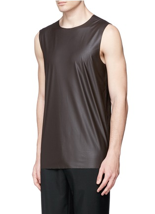 Front View - Click To Enlarge - Acne Studios - 'Steve' coated fabric tank top