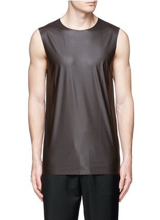 Main View - Click To Enlarge - Acne Studios - 'Steve' coated fabric tank top