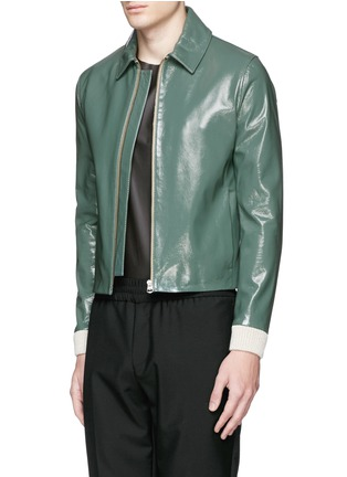 Front View - Click To Enlarge - Acne Studios - 'Adrien' coated leather jacket