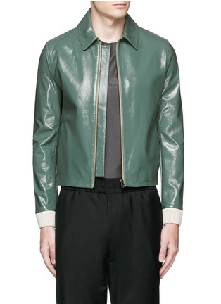 Main View - Click To Enlarge - Acne Studios - 'Adrien' coated leather jacket