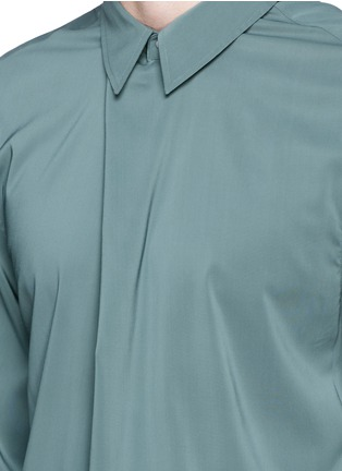 Detail View - Click To Enlarge - Acne Studios - 'Stune' pleat front tech fabric shirt