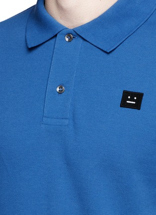 Detail View - Click To Enlarge - Acne Studios - Kolby' face patch polo shirt