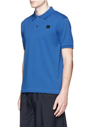 Front View - Click To Enlarge - Acne Studios - Kolby' face patch polo shirt