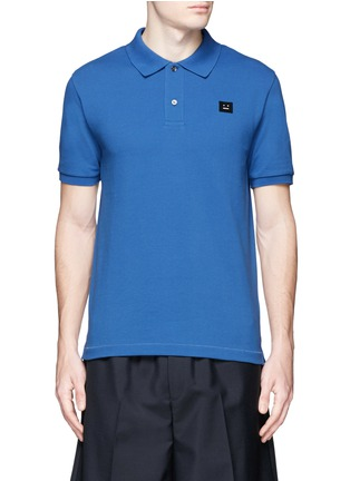 Main View - Click To Enlarge - Acne Studios - Kolby' face patch polo shirt