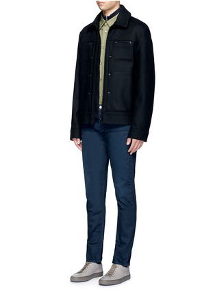 Figure View - Click To Enlarge - Acne Studios - 'Town Twilight' cropped tapered jeans