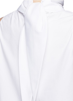 Detail View - Click To Enlarge - The Row - 'Luna' tie neck cotton poplin sleeveless top