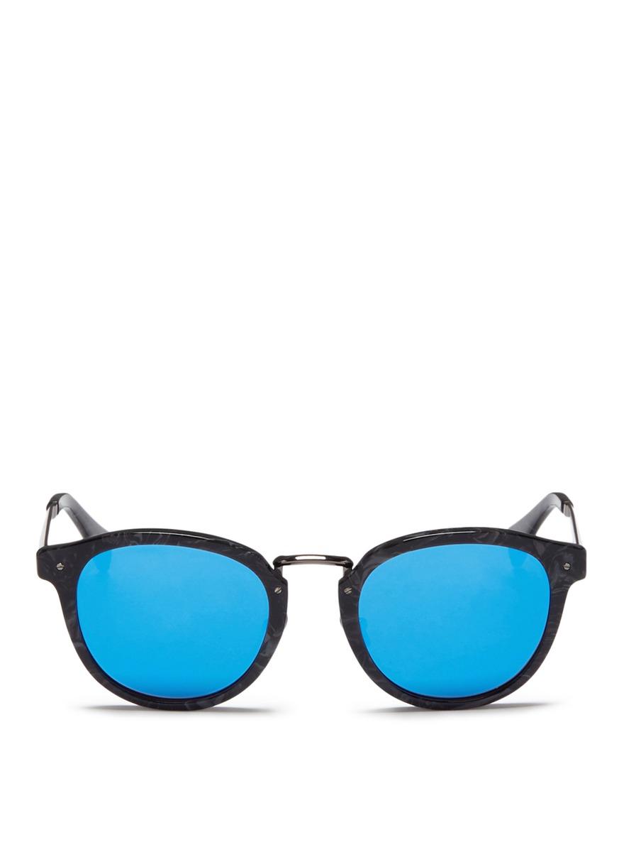 Edge' marble effect mirror sunglasses