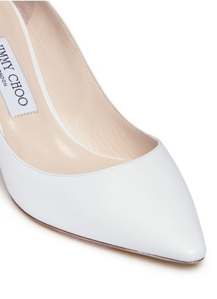 Detail View - Click To Enlarge - Jimmy Choo - 'Romy' kid leather pumps