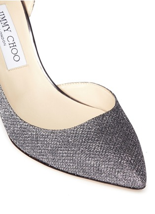 Detail View - Click To Enlarge - Jimmy Choo - 'Lucy' glitter lamé d'Orsay pumps