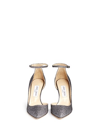 Front View - Click To Enlarge - Jimmy Choo - 'Lucy' glitter lamé d'Orsay pumps