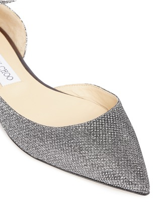 Detail View - Click To Enlarge - Jimmy Choo - 'Lucy' glitter lamé d'Orsay flats