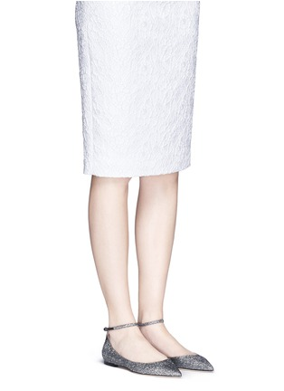 Figure View - Click To Enlarge - Jimmy Choo - 'Lucy' glitter lamé d'Orsay flats