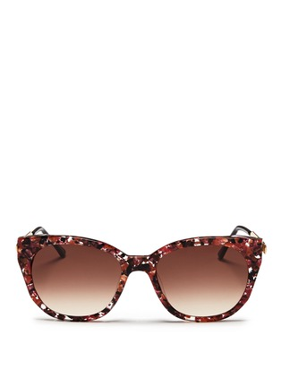 Main View - Click To Enlarge - Thierry Lasry - 'Softly' pearlescent shell effect acetate sunglasses