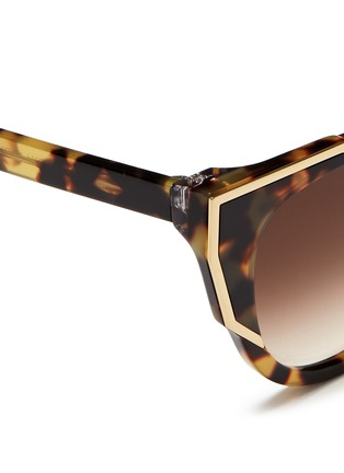 Detail View - Click To Enlarge - Thierry Lasry - 'Butterscotchy' tortoiseshell acetate angular metal rim sunglasses