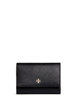 Main View - Click To Enlarge - Tory Burch - 'Robinson' medium saffiano leather flat wallet