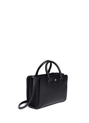 Front View - Click To Enlarge - Tory Burch - 'Robinson' small leather zip tote