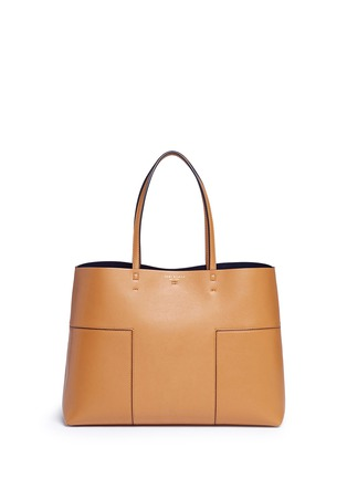 Main View - Click To Enlarge - Tory Burch - 'Block-T' leather tote