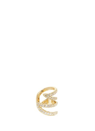 Main View - Click To Enlarge - PHYNE BY PAIGE NOVICK - 'Stella' 18k gold diamond pavé winged ear cuff