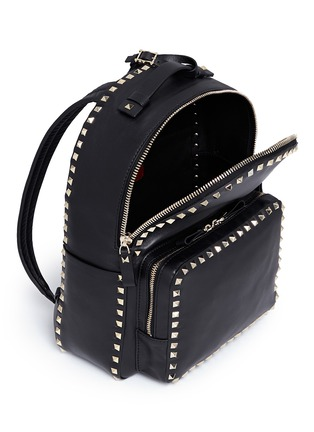 Detail View - Click To Enlarge - Valentino - 'Rockstud' leather backpack