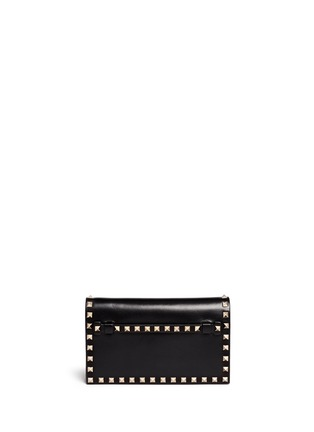 Main View - Click To Enlarge - Valentino - 'Rockstud' small leather flap clutch