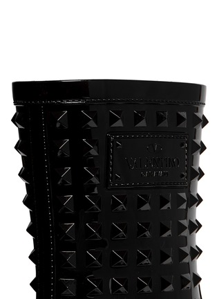 Detail View - Click To Enlarge - Valentino - 'Rockstud' PVC rainboots