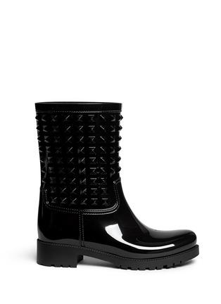 Main View - Click To Enlarge - Valentino - 'Rockstud' PVC rainboots