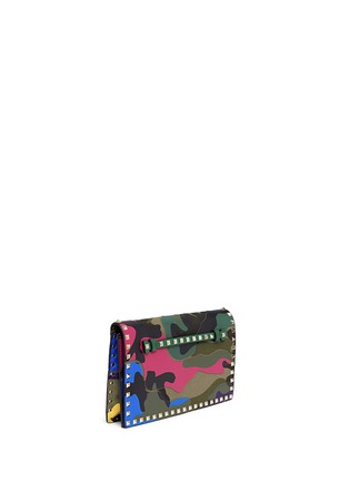 Figure View - Click To Enlarge - Valentino - Camouflage print leather canvas flap clutch