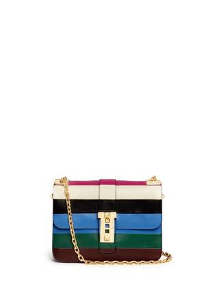 Main View - Click To Enlarge - Valentino - 'B-Rockstud' stripe leather shoulder bag