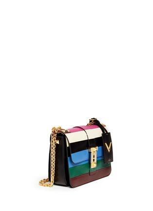 Figure View - Click To Enlarge - Valentino - 'B-Rockstud' stripe leather shoulder bag