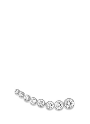 Main View - Click To Enlarge - Sophie Bille Brahe - 'Croissant de Lune' diamond 18k white gold single earring