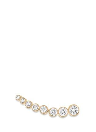 Main View - Click To Enlarge - Sophie Bille Brahe - 'Croissant de Lune' diamond 18k yellow gold single earring