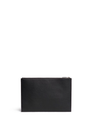 Back View - Click To Enlarge - Givenchy - 'Antigona' contrast edge large leather zip pouch
