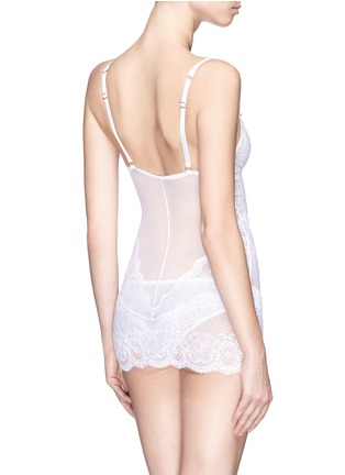 Back View - Click To Enlarge - L'AGENT - 'Vanesa' lace tulle slip