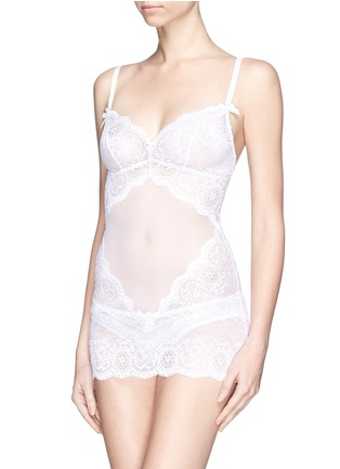 Figure View - Click To Enlarge - L'AGENT - 'Vanesa' lace tulle slip