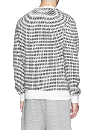 Back View - Click To Enlarge - MAURO GRIFONI - Semi circle print cotton terry sweatshirt