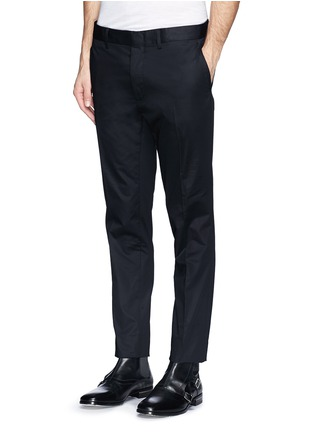 Front View - Click To Enlarge - Lanvin - Compact cotton satin chinos