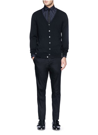 Figure View - Click To Enlarge - Lanvin - Compact cotton satin chinos