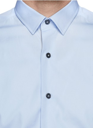 Detail View - Click To Enlarge - Lanvin - Grosgrain placket trim poplin shirt