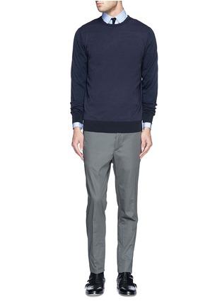 Figure View - Click To Enlarge - Lanvin - Grosgrain placket trim poplin shirt