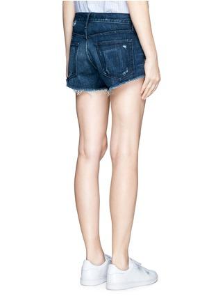 Back View - Click To Enlarge - 3x1 - 'WM5' distressed cutoff denim shorts