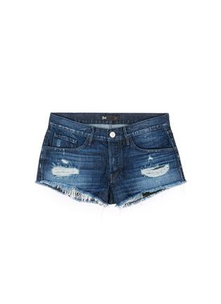 Main View - Click To Enlarge - 3x1 - 'WM5' distressed cutoff denim shorts