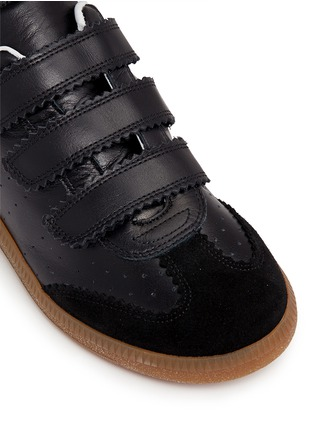 Detail View - Click To Enlarge - ISABEL MARANT ÉTOILE - 'Beth' suede panel leather sneakers