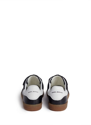 Back View - Click To Enlarge - ISABEL MARANT ÉTOILE - 'Beth' suede panel leather sneakers